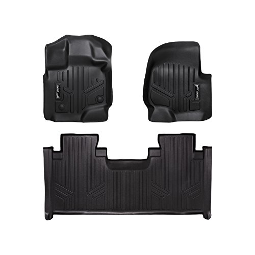 MAX LINER A0167/B0199 Custom Fit Floor Mats 2 Liner Set Black for 2015-2019 Ford F-150 SuperCab with 1st Row Bench Seat