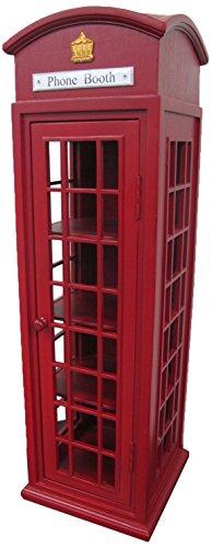 Office Accents London Mini Telephone Display Storage Case, Mahogany Hardwood Finish