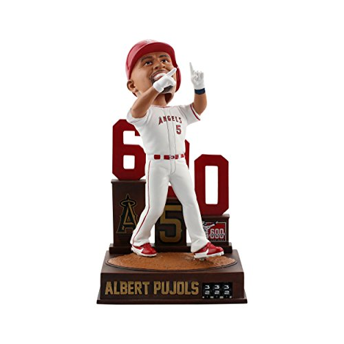 (Forever Collectibles Albert Pujols Los Angeles Angels 600 Home Run - Home Run Tracker Bobblehead MLB)