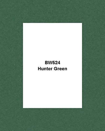 Mat Board Center, Crescent 16X20 White Core Picture Mats Mattes Matting for 11X14 Photo + Backing + Bags (25 KIT) (Hunter Green, BW524) by Mat Board Center