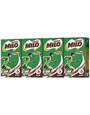 MILO UHT Chocolate Malt Packet Drink, 125ml (Pack of 4)