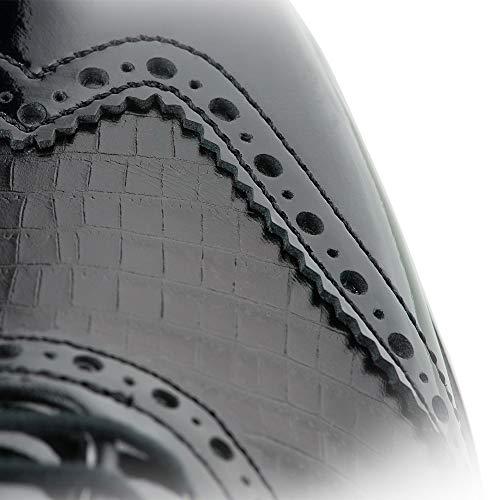3bbd91b56a2d3 FootJoy Women's Tailored Collection-Previous Season Style Golf Shoes Black  9 M Patent Crocodile Print, US
