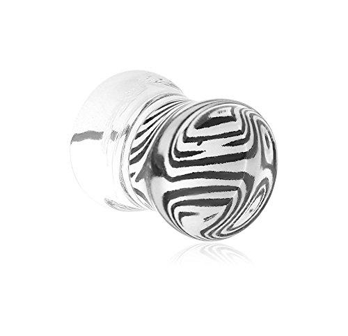 (Holy Plug Body Piercing Jewelry Single Uv Acrylic Double Flared Plug With Inlaid Design 000g 0000g 9/16 5/8 11/16 13/16 4g 2g 0g)
