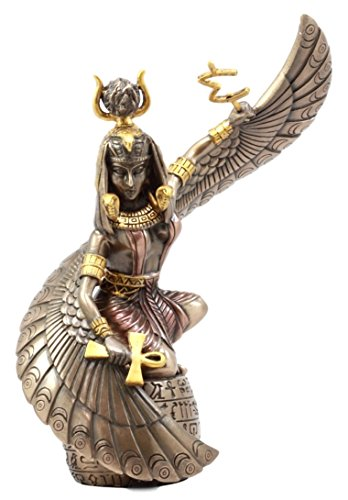 Ebros Gift Egyptian Goddess Mother Isis Ra Holding Ankh Figurine 9