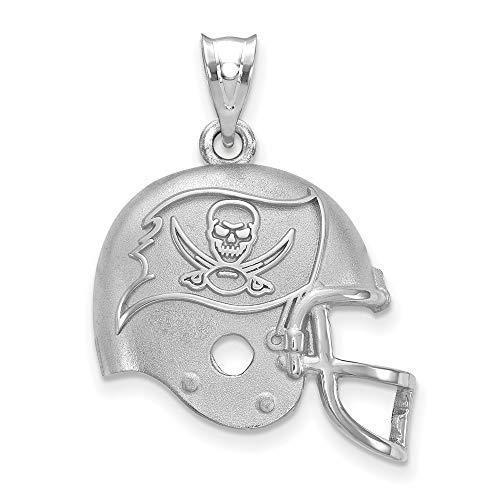 NFL Sterling Silver LogoArt Tampa Bay Buccaneers Football Helmet Logo Pendant