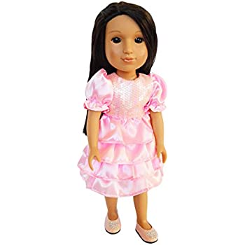 Hearts for Hearts Dolls-14 Inch Doll Clothes Brittanys My Easter Pink Dress Compatible with Wellie Wisher Dolls-Glitter Girl Dolls
