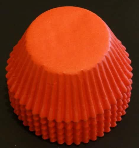 100 Orange Cupcake Liners Baking Cups STANDARD SIZE
