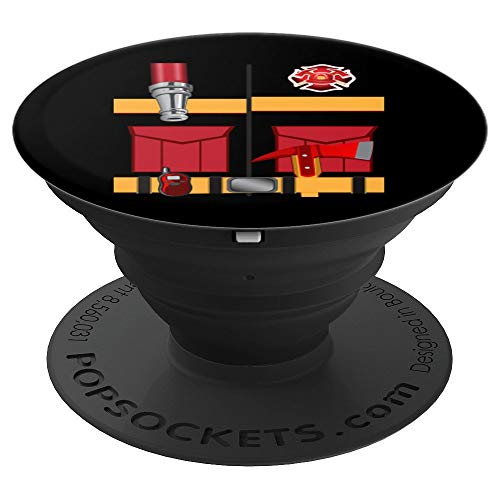 (Fireman Uniform Firefighter Costume Art Halloween DIY Gift - PopSockets Grip and Stand for Phones and)