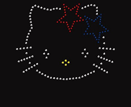 Hello-Kitty-4th-of-July-Rhinestone-Iron-on-Transfer