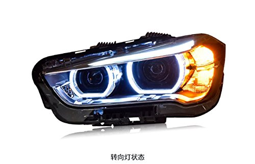 GOWE Car Styling LED Head Lamp for BMW X1 headlights 2016 for X1 LED angle eyes drl H7 hid Bi-Xenon Lens low beam Color Temperature:6000K; Wattage:35W 1