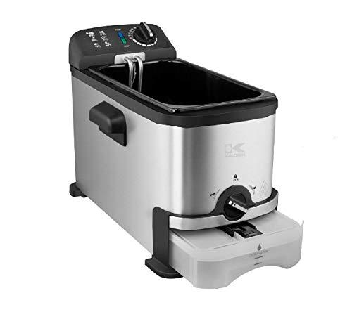 Venga! VG FT 3012 BS Deep Fryer with Oil Filter Function-2000 W, Plastic, Enamel, 3 L, Stainless Steel/Black