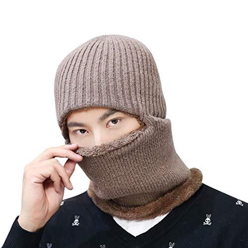 Tricot Khaki Pour 2 D'hiver Bonnet Acvip Coupe En vent Homme nRtt8x