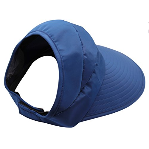 Muryobao Women's Sun Hats Foldable Wide Brim Roll Up Open Top Hat UV Protection Visor Caps For Summer Beach Golf Fishing Outdoor Navy by Muryobao (Image #2)