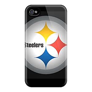 Iphone 4/4s NOF18578CcLb Custom Realistic Pittsburgh Steelers Pattern Bumper Cell-phone Hard Covers -AlissaDubois