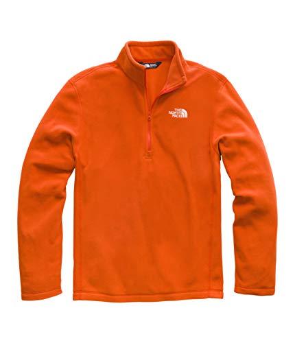 The North Face Men's TKA 100 Glacier 1/4 Zip Zion Orange/Vintage White Medium
