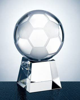 Balón de fútbol Trofeo de cristal óptico con corto base – grande ...