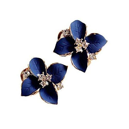 weimay accessoires simples de la bijouterie du boulon prisonnier de la bijouterie du verre de la fleur de la señora de des femmes simples du pente