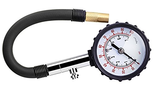 Utaly Digital Tire Pressure Gauge 100 PSI Heavy Duty Electronic Accurate Air Pressure Gauge for Car Truck Bike Motorcycle with Blue Point Bright LCD Display (100 Psi Electronic)