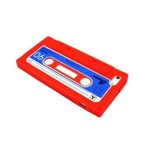iPhone 5S Coque de protection rigide pour cassette Cover Accessoires Rouge decui Rouge Coque de protection en silicone