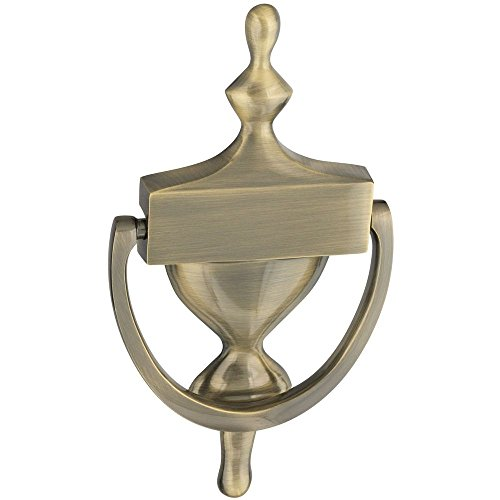 National Hardware N336-156 V1914 Door Knocker in Antique Brass (Knocker Brass Antique Door)
