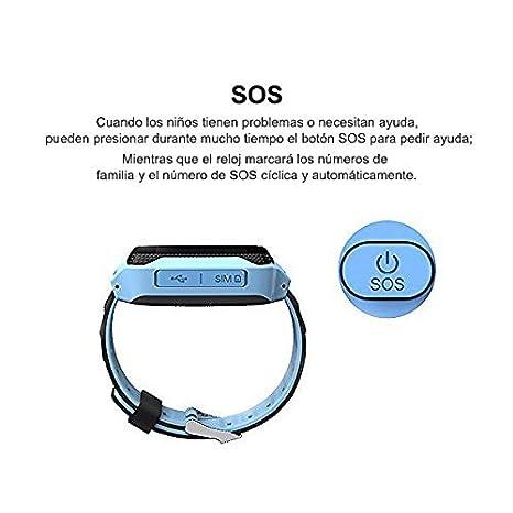 Amazon.com: Reloj Infantil Smartwatch para Niños Con llamada Toque HD Pantalla SOS GPS Despertador Compatible con Android IOS App (1.44 Pulgadas (Azul): ...