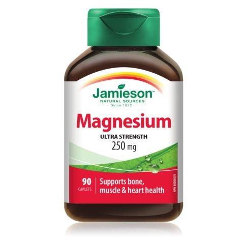 Jamieson Magnesium 250 mg, 90 caplets - Magnesium Mg 250 Caplets