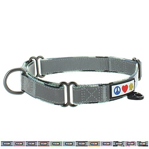 Pawtitas Martingale Dog Collar Puppy Collar Reflective Dog Collar Training Dog Collar Behavioral Dog Collar Medium Dog Collar Camouflage Grey Dog Collar ()
