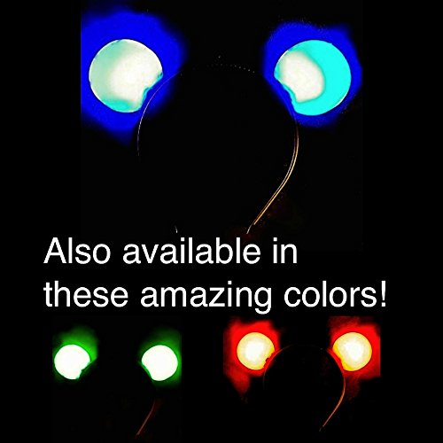 [Light Up Flashing Mouse Ears - A MUCH better deal than the Mickey Mouse ears sold at Disney World! Get GREEN for St. Patrick's] (Bicycle Themed Halloween Costumes)