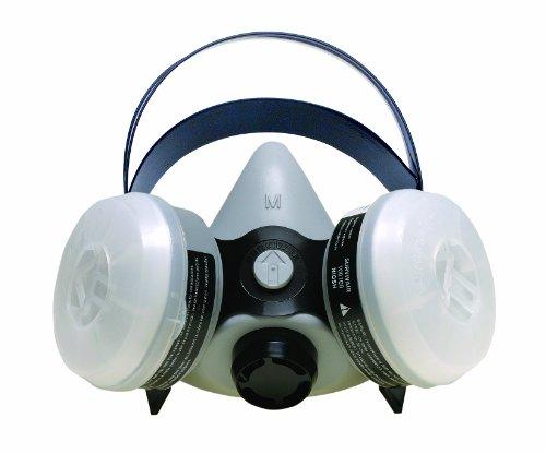 Sperian 366184 Survivair Half Mask OV/N95 Silicone Respirator, Medium
