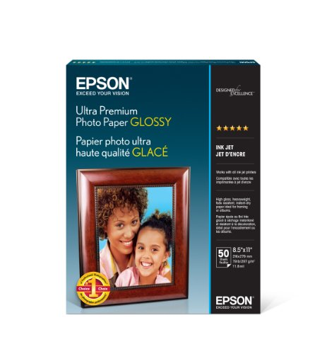 - Epson Ultra Premium Photo Paper GLOSSY (8.5x11 Inches, 50 Sheets) (S042175)