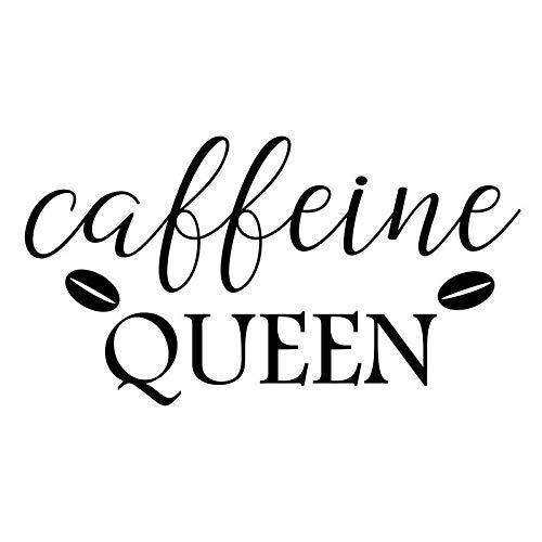 Creative Concepts Ideas Caffeine Queen Coffee Bean CCI Decal Vinyl Sticker|Cars Trucks Vans Walls Laptop|Black|5.5 x 3.1 in|CCI2325