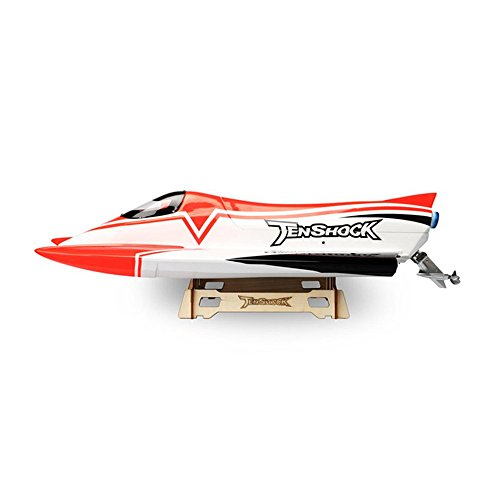 Tenshock 700mm Length F1 Formula ARTR RC Racing Boat High Speed Remote Control Electric Boat Red 70km/h(43 mph) 4 Pole Motor Waterproof 80A ESC with Twim Chamber Self-right ()