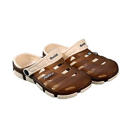 NURJOR Men's Classic Clog | Mens Garden Shoes| Men Sandals Waterproof | Slip on Shoes | Garden Clogs Brown