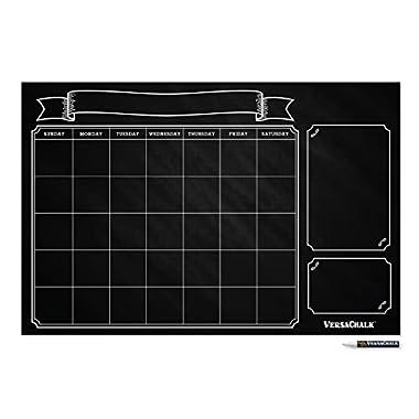 Large Monthly Chalkboard Wall Calendar Planner (24 x 36 , Vintage) by VersaChalk