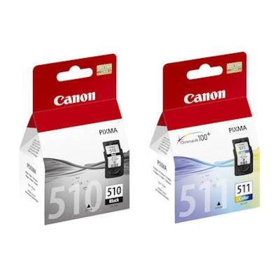 Originales genuinos Canon PG510 (pg-510) negro y CL511 (CL-511) Cartucho de tinta a Color para Pixma iP2702 impresoras