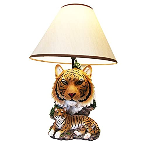 Ebros Gift Royal Bengal Tiger Desktop Table Lamp Statue Decor With Shade