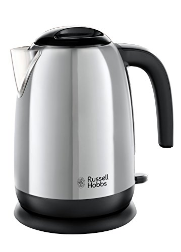 Russell Hobbs 23911 Adventure Polished Stainless Steel Electric Kettle Open Handle, 3000 W, 1.7 Litre