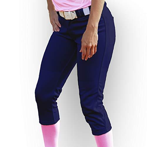 3N2 Women's Classic Softball Pants, Navy Blue, Small