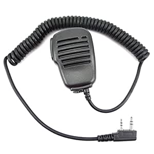 Micrófono y altavoz con un conector de audio de 3,5 mm y un puerto para PTT 2-jack Kenwood Puxing Baofeng HYT WEIERWEI Quansheng Linton Wouxun Walkie-Talkie Radio TK-3206 TK-2207 TK-3207 TK-3202 TK-2312 TK-3301 etc.