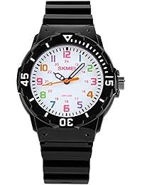 Kids 50M Waterproof Watch,Boys Kids Time Teacher Watches...