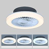 Ventilador De Techo Con Iluminación,75W Ventilador techo con luz Regulable Moderna…
