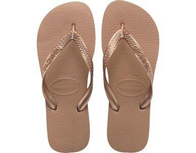 8ecf8468ac84 Havaianas Womens Top Metallic Rose Gold Flip Flops Sandals  Amazon.co.uk   Shoes   Bags