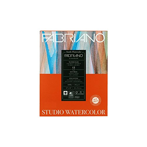 Fabriano Studio Watercolor Pad 11X14 HP 300G