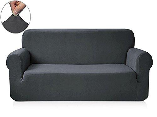Chun Yi 1-Piece Knit Fabric Slipcover for Sofa - Grey (1 Piece Knit)
