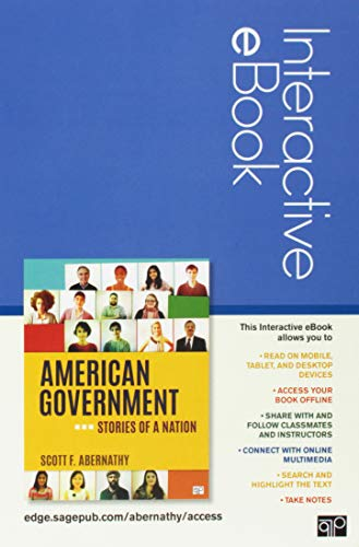 American Government Interactive eBook Student Version: Stories of a Nation