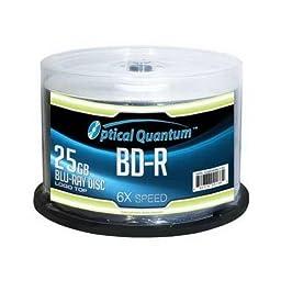 OPTICAL QUANTUM OQBDR06LT-50 25GB 6XBD-R LOGO 50PK