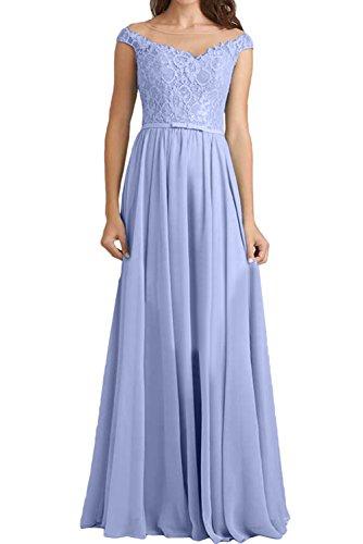 Ivydressing Rundkragen Damen Brautjungfernkleider Elegant Spitzenkleid Abendkleider Lang Lavendel z8zrPpq
