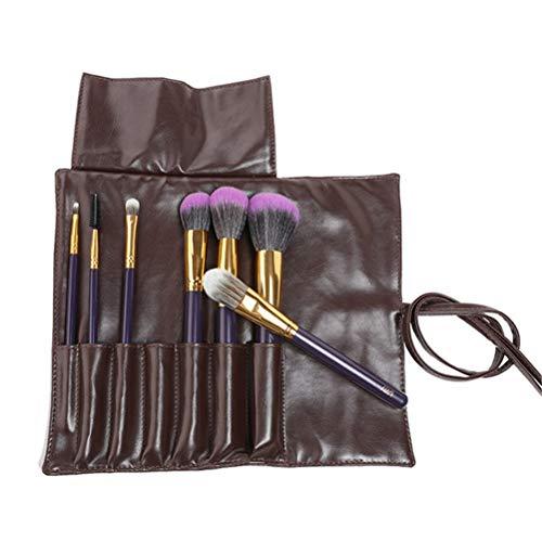 Doubb Luxe Premium Makeup Brushes Set with Lip Brush, Eyebrow Comb, Eye Shadow Brush, Foundation Brush, Contour Brush, Etc. with Brush Bag (Purple)-7PCS