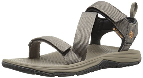 (Columbia Men's Wave Train Sport Sandal, mud, Canyon Gold, 10 Regular US)