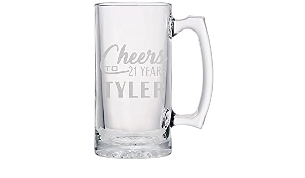 Unique Presents for Him year Engraved Beer Glass with Presentation Box 18th 21st Birthday Ideas Personalised Best of